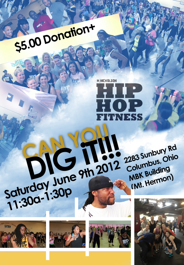 Saturday June 9th Hip Hop Fitness 2 Hour Class