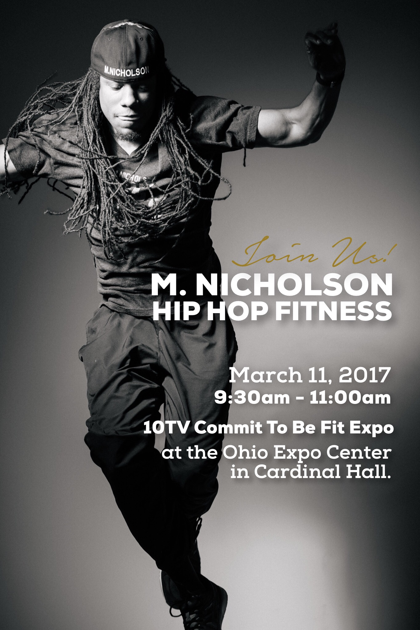 Mike Nicholson of M. Nicholson Hip Hop Fitness will be at 10TV Commit To Be Fit