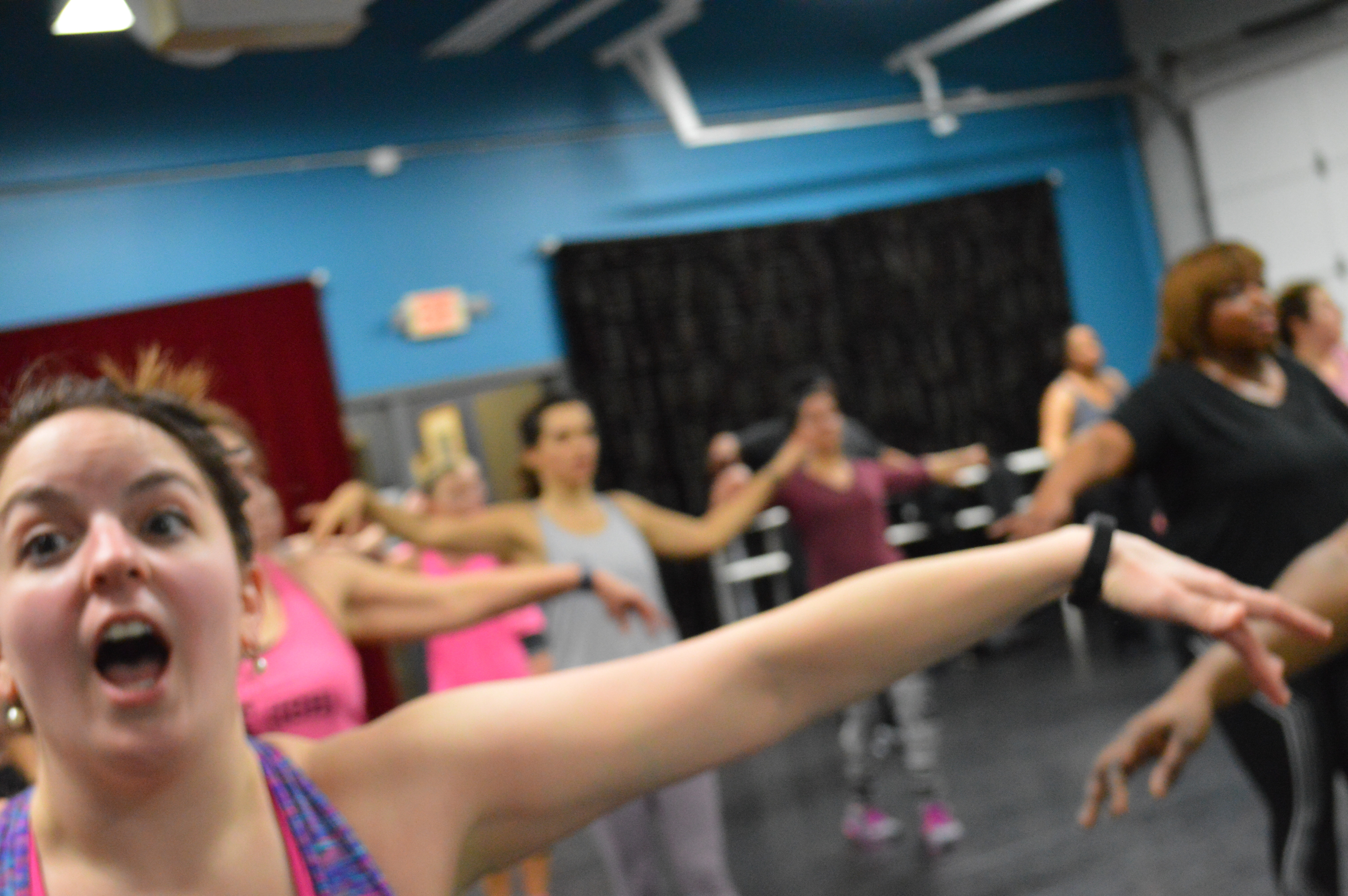 Mike Nicholson leads an Hip Hop Fitness class in Dublin Ohio A Suburb of Columbus Ohio