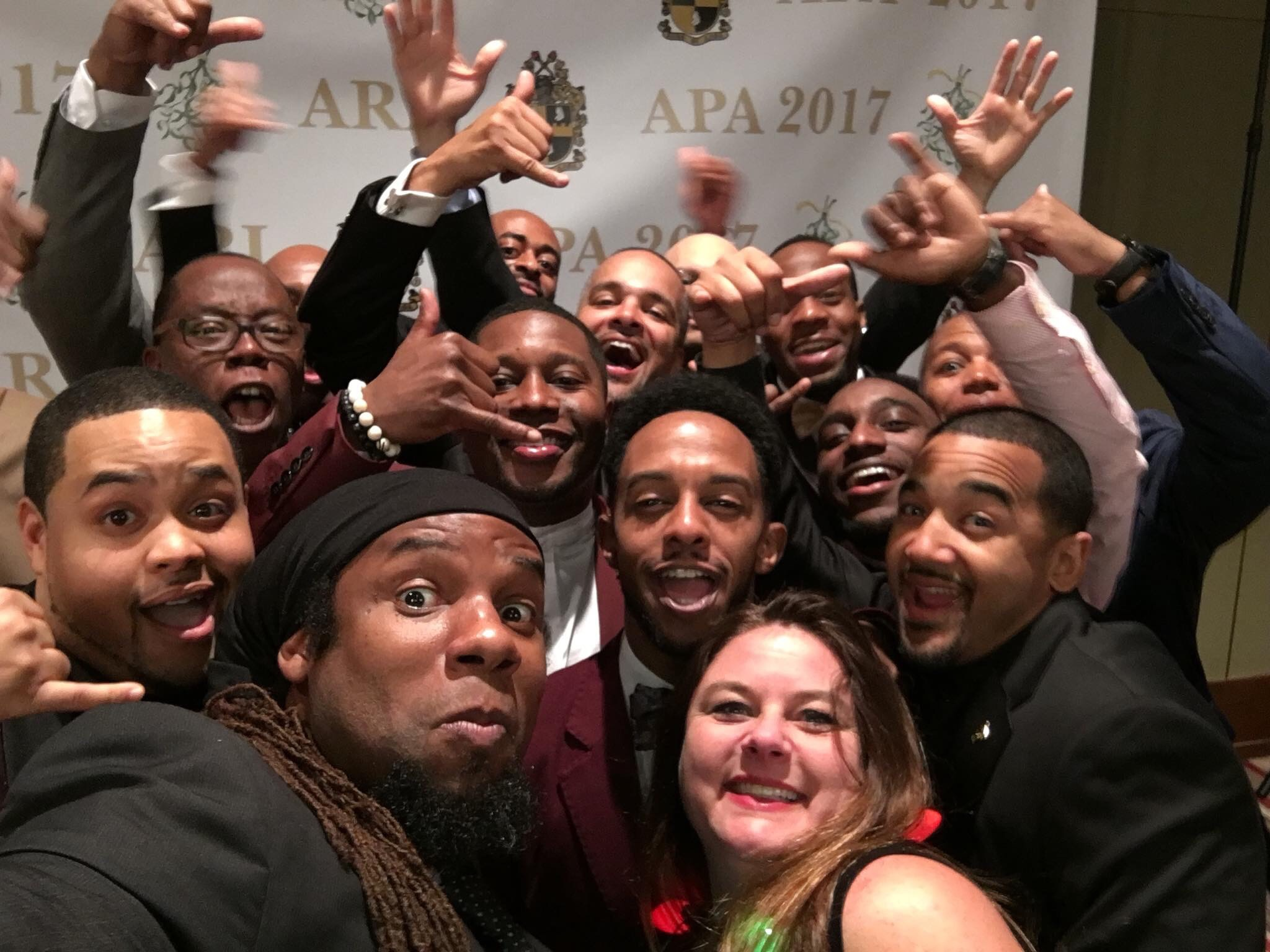 Mike Nicholson with his Alpha Phi Alpha Fraternity, inc. brothers of STEPP.